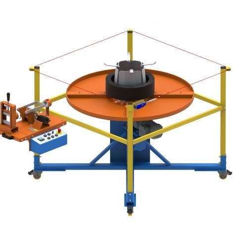 Máquina Para Formar Rolos de Fios e Cabos MDK 300 R2 Cod. 3958