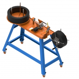 Máquina de medir e enrolar fios e cabos D 200 PLUS Cod. 502663